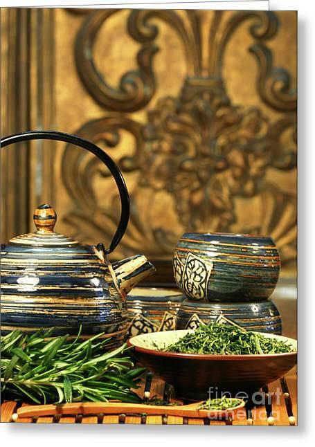 Dries Herb Leaves  Greeting Card by Sandra Cunningham