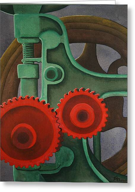 Drill Gears Greeting Card