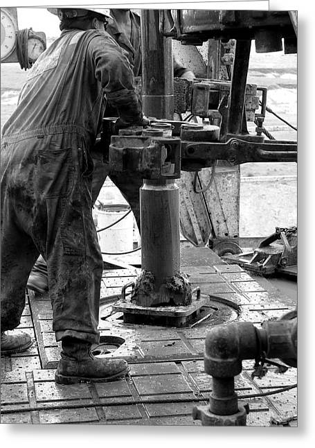 Drilling For Gold Greeting Card by Jason Drake