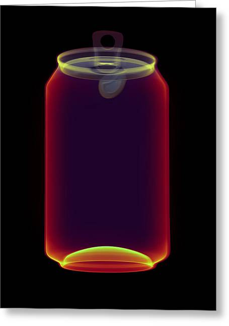 Drinks Can X-ray Greeting Card by D. Roberts