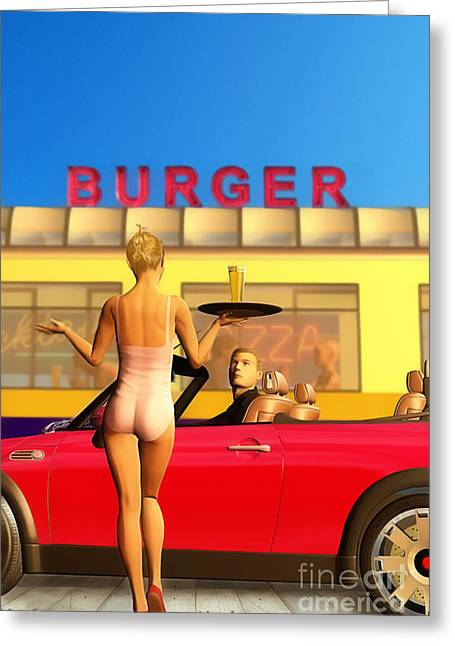 Drive-in Greeting Card by John Edwards