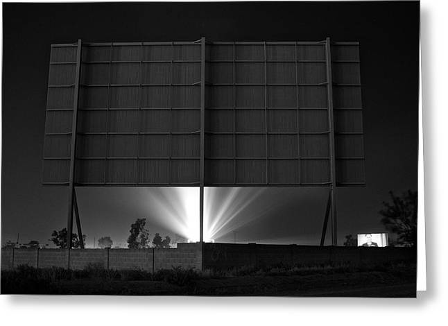 Drive-in Theater - After The Dust Storm Greeting Card by Nick Florio