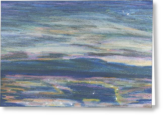 Greeting Card featuring the pastel Driving By Utica by Denny Morreale