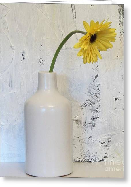 Droopy Day Daisy Greeting Card by Marsha Heiken