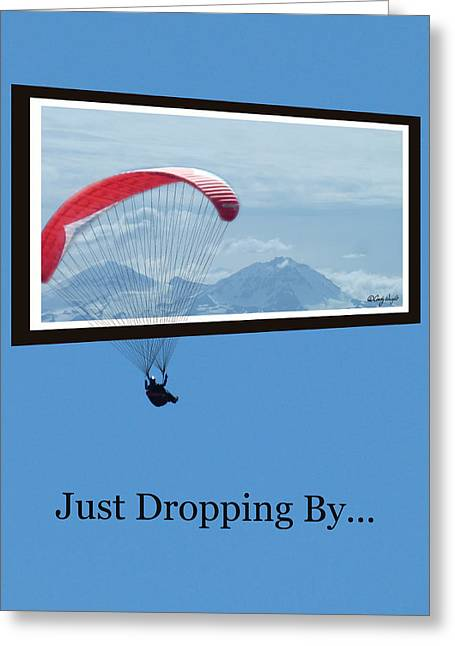 Dropping In Hang Glider Greeting Card by Cindy Wright