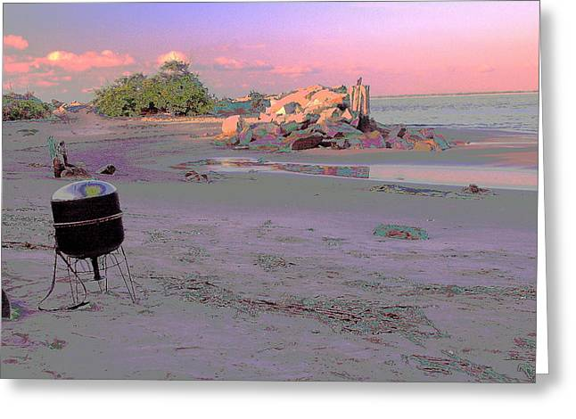 Drum On Beach Greeting Card