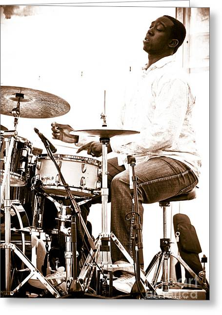 Drummer Larnell Lewis At Sunfest Greeting Card