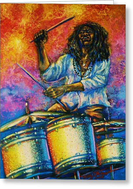 Drummer Greeting Card by Terry Jackson