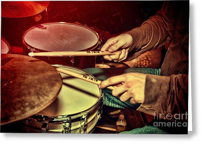 Drumming Greeting Card