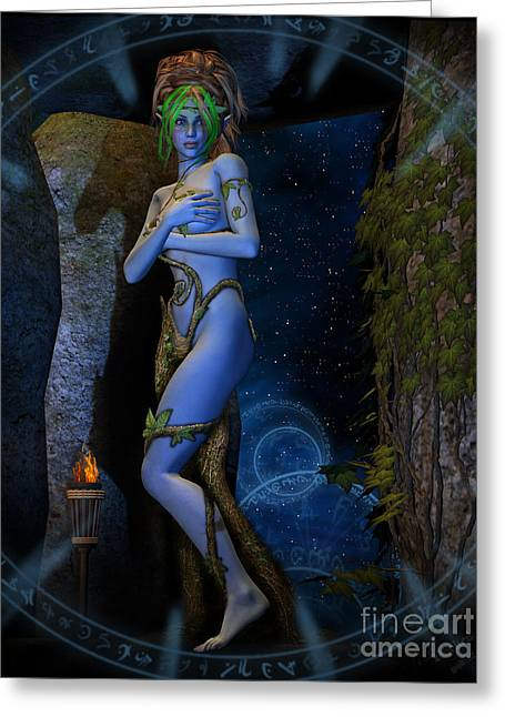 Dryad Aurya Greeting Card