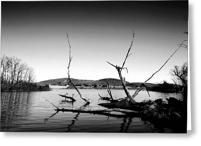 Dryden Lake New York Greeting Card by Paul Ge