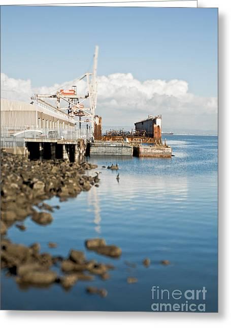 Drydock Facility And Crane Greeting Card