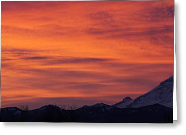 Dsc03437 - January Sunrise Pan Greeting Card by Shirley Heyn