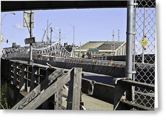 Dual Bridge View Greeting Card by Cathy Brown