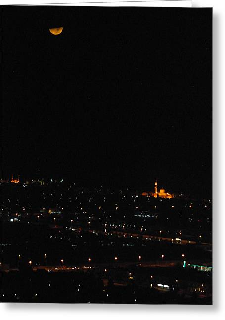 Greeting Card featuring the photograph Dubai At Night by Steven Richman
