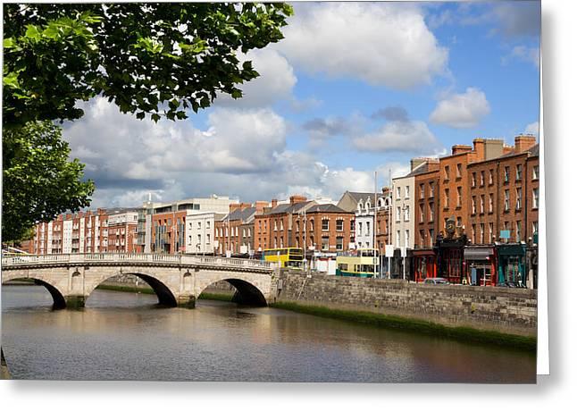 Dublin Cityscape Greeting Card by Artur Bogacki