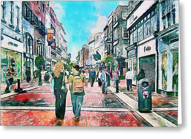 Dublin Grafton Street Greeting Card