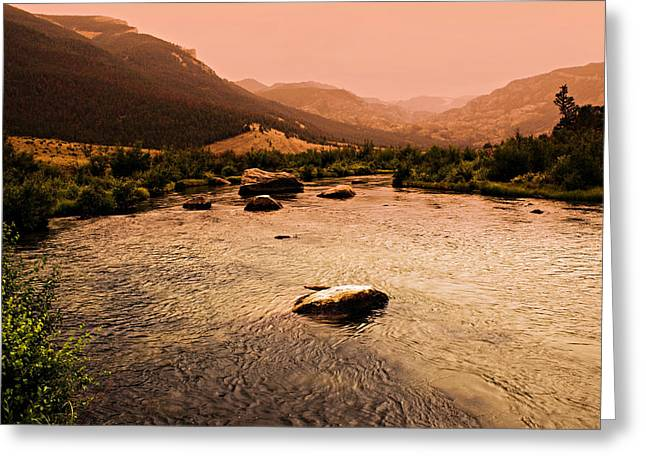 Dubois Sunset Greeting Card by Marty Koch