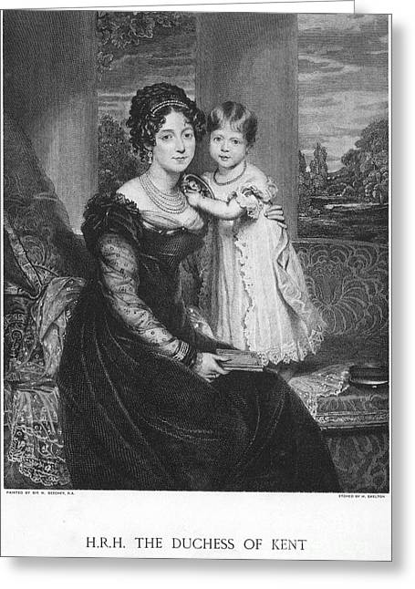 Duchess Of Kent & Victoria Greeting Card