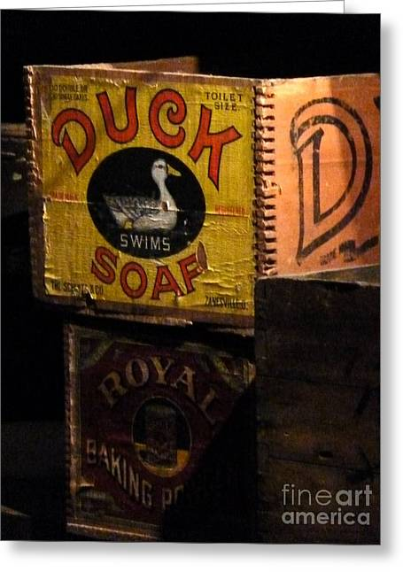 Greeting Card featuring the photograph Duck Soap by Newel Hunter