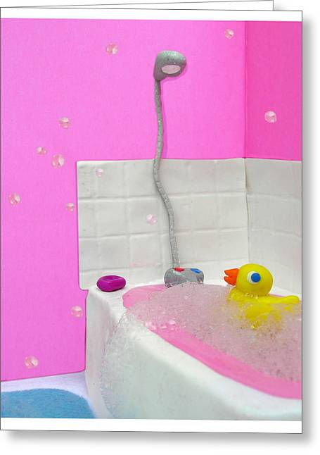Duckie Greeting Card by Louisa Houchen