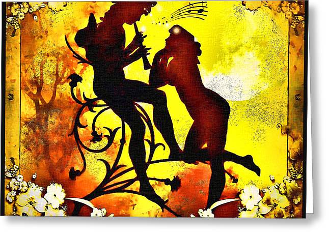 Greeting Card featuring the digital art Duet by Mary Morawska