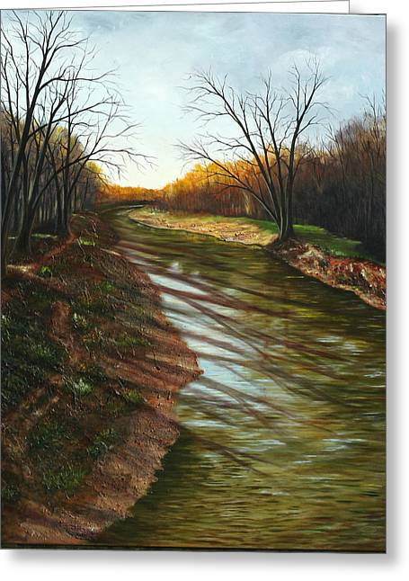 Duffins Creek Ajax Greeting Card by Sharon Steinhaus
