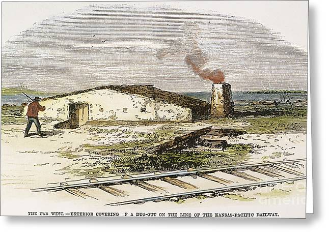 Dugout Residence, 1871 Greeting Card by Granger