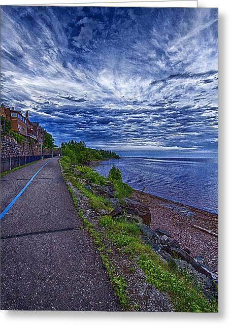 Duluth Lake Superior Trail Greeting Card