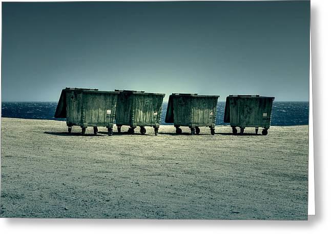 Dumpster Greeting Card by Joana Kruse