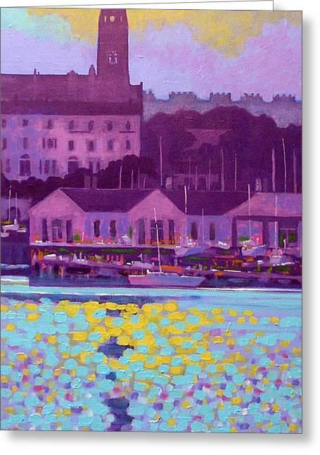 Dun Laoghaire Harbour Dublin Ireland Greeting Card by John  Nolan