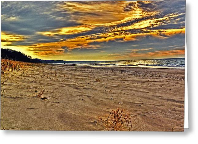 Greeting Card featuring the photograph Dunes Sunset II by William Fields