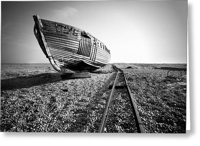 Dungeness Ship Wreck II Greeting Card by Nina Papiorek
