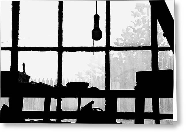 Greeting Card featuring the photograph Dunklee Window by Tom Singleton