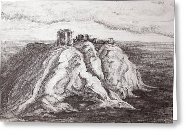 Dunnottar Castle Greeting Card by Sheep McTavish