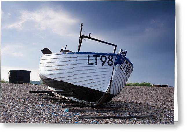 Dunwich Fishing Boat. Greeting Card by Ian Merton