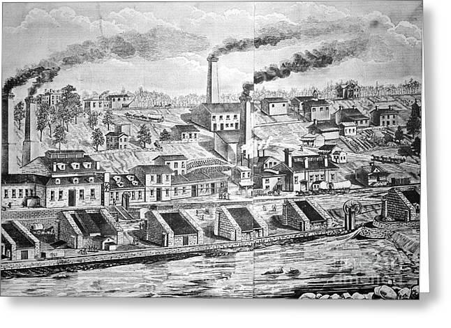 Dupont Powder Mill, 1854 Greeting Card by Granger