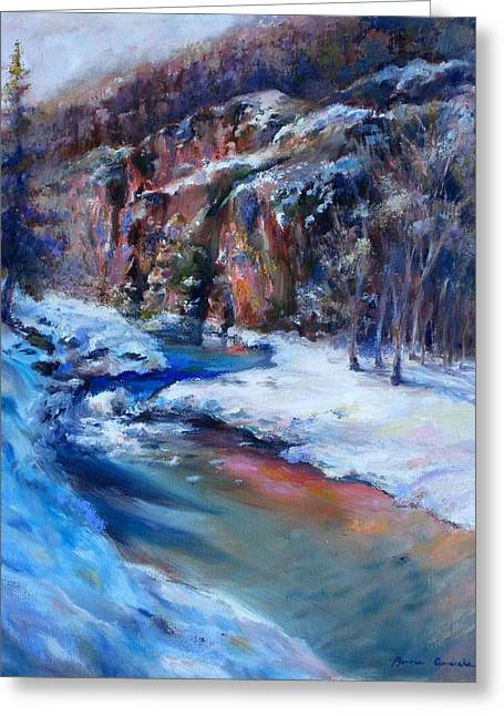 Durango Stream Greeting Card by Bonnie Goedecke