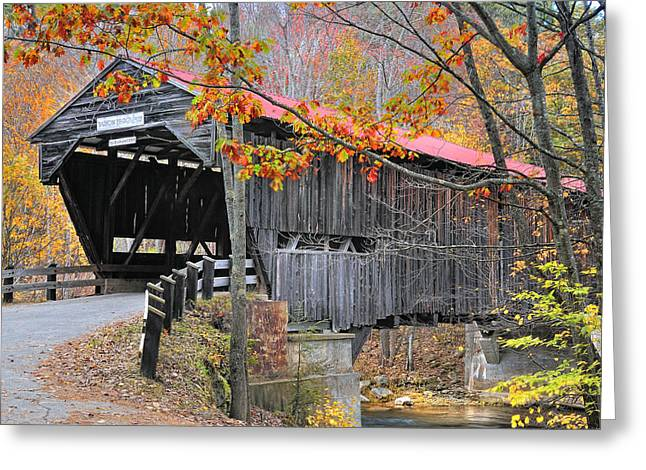 Durgin Covered Bridge - New Hampshire  Greeting Card by Thomas Schoeller