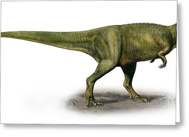Duriavenator Hesperis, A Prehistoric Greeting Card by Sergey Krasovskiy