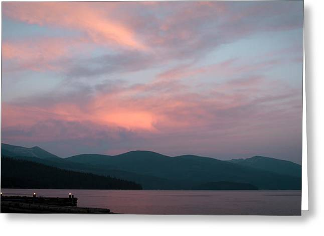 Dusk At Priest Lake Greeting Card by David Patterson