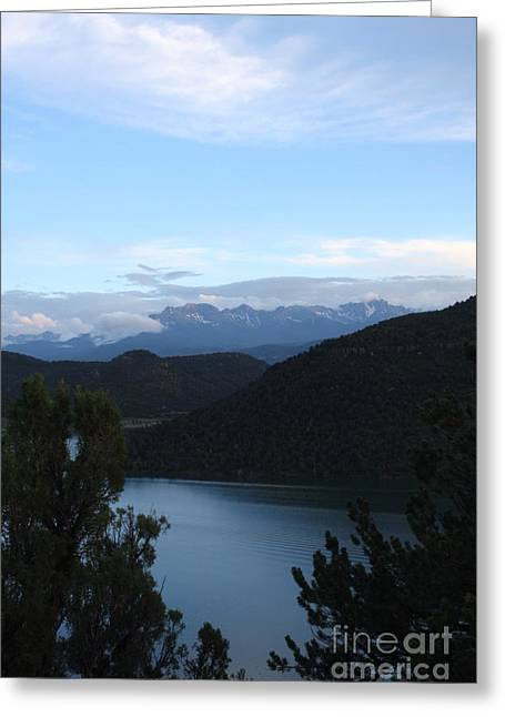 Greeting Card featuring the photograph Dusk At Ridgway Reservoir by Marta Alfred