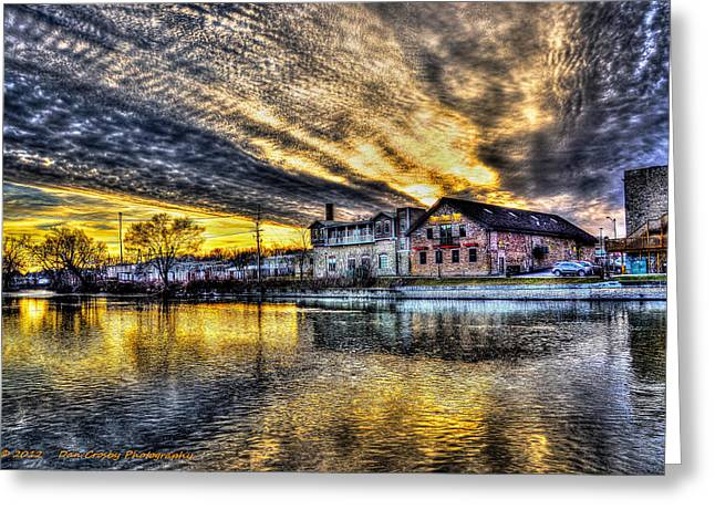 Dusk On The Fox River Greeting Card by Dan Crosby