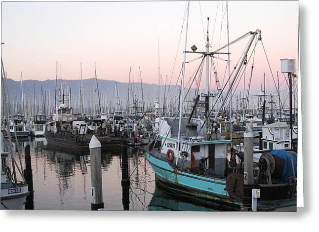 Dusky Fishing Boats Greeting Card