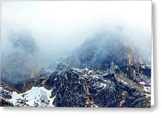 Dusting The Peaks With Snow. Greeting Card