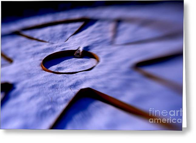 Dusty Snow And Geometry Second Look Greeting Card by Anca Jugarean