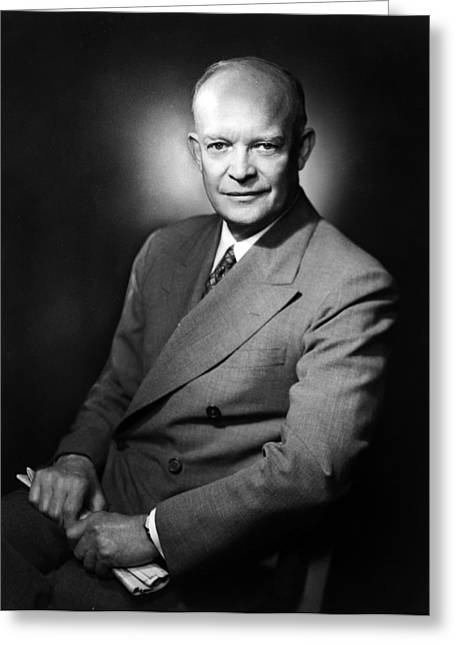 Greeting Card featuring the photograph Dwight Eisenhower - President Of The United States Of America by International  Images