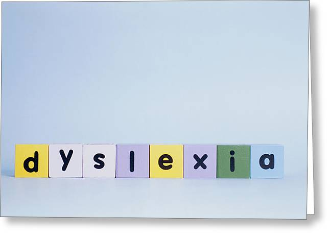 Dyslexia Greeting Card by Cristina Pedrazzini