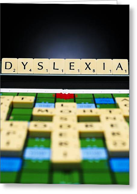 Dyslexia Greeting Card by Kevin Curtis