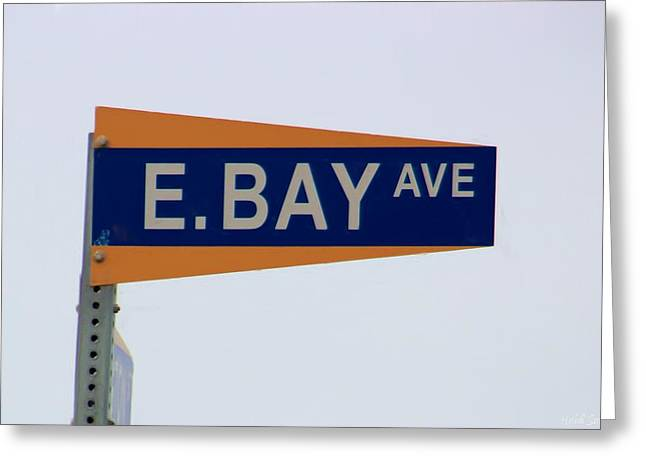 E. Bay Ave Greeting Card by Heidi Smith